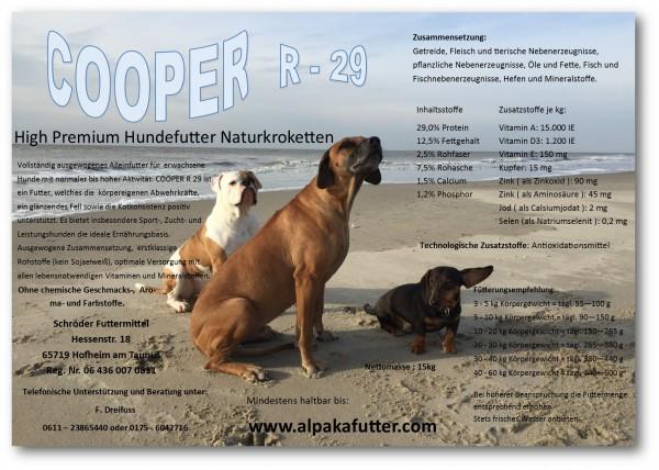 COOPER-R29 - High Premium Hundefutter Naturkroketten 15 kg