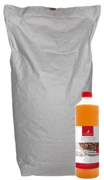 Angebotspaket Alpaka und Lama Mash getreidefrei 15 kg + 1 L Schröder Premium Leinöl