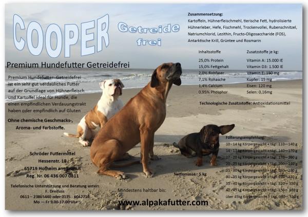COOPER-Getreidefrei -Angereichert mit Ganzy 5 kg
