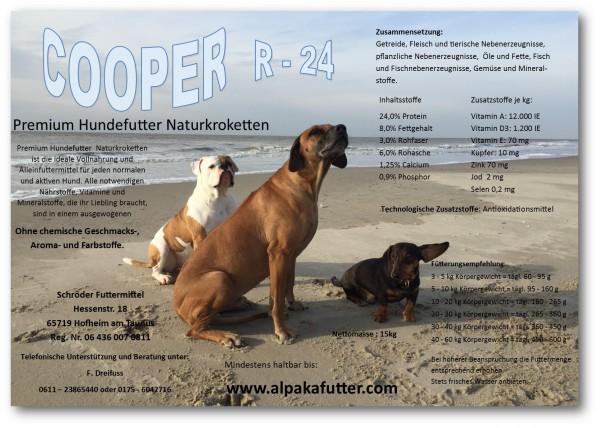 Angebotspaket 15 kg COOPER-R24 + 1 kg Ganzy